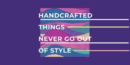 Ontwerpsjabloon van Twitter van Citation about Handcrafted things