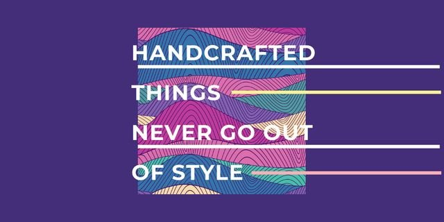 Plantilla de diseño de Citation about Handcrafted things Twitter