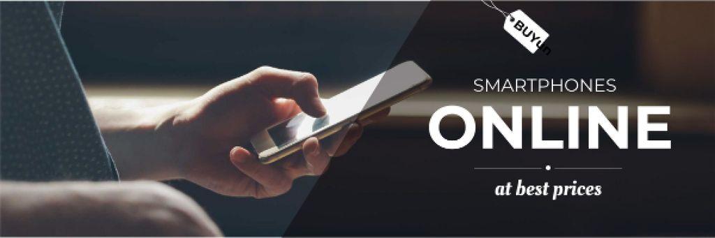 Designvorlage Smartphones online Store Offer für Email header