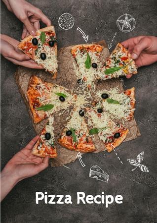 Modèle de visuel Delicious Italian Pizza menu - Poster