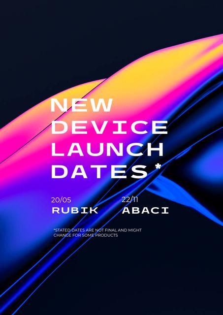 Modèle de visuel New Device Launch Announcement - Poster