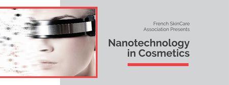 Modèle de visuel Modern Skincare Technologies Announcement - Facebook cover