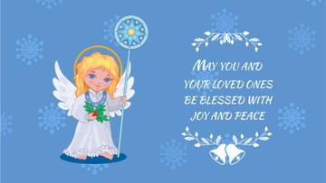 Blessing Little Girl Angel