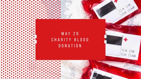 Plantilla de diseño de Charity Event Announcement with Donated Blood FB event cover