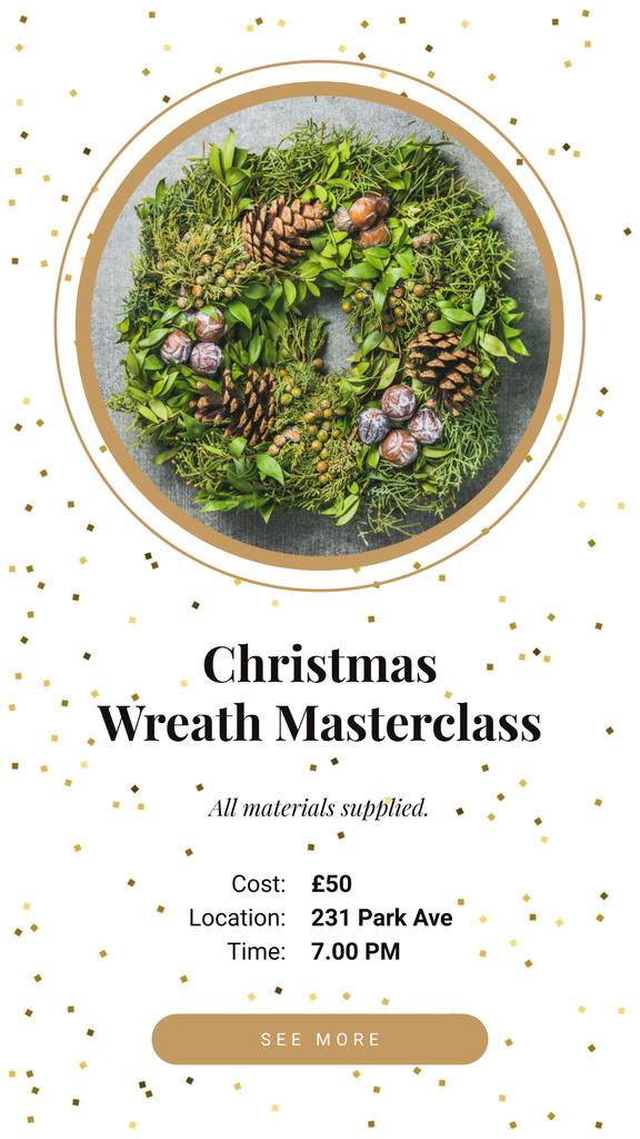 Decorative Christmas wreath — Crear un diseño