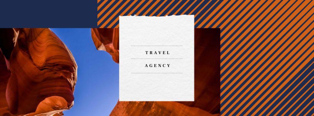 Red sand Canyon view Facebook cover – шаблон для дизайну