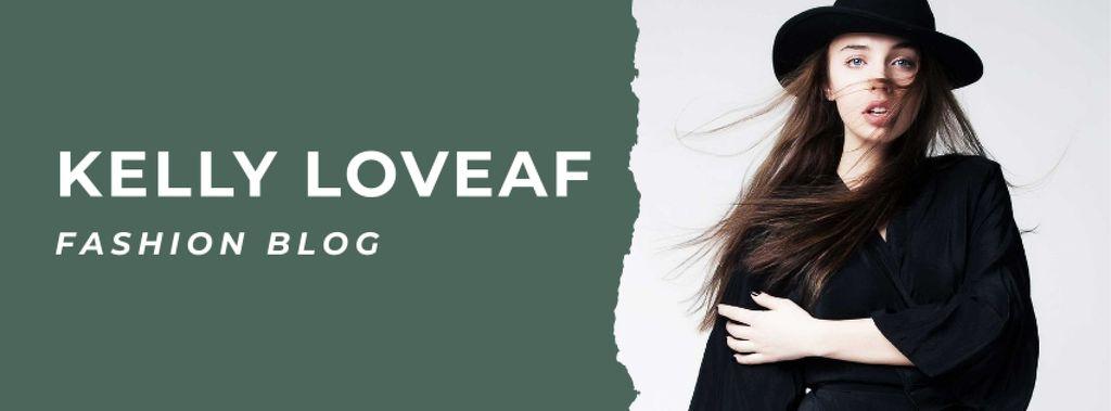 Fashion blog ad with Stylish Woman — ein Design erstellen