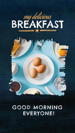 Template di design Fresh Fried Eggs on Breakfast Instagram Story