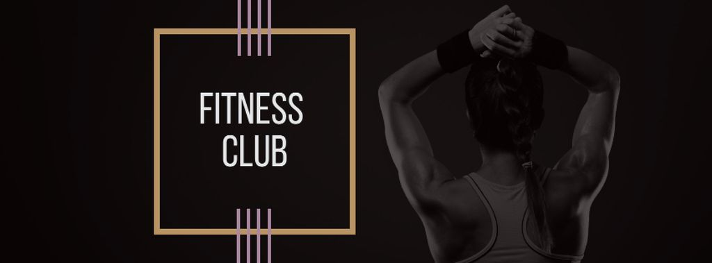 Fitness Club Ad with Woman's Fit Strong Body — Crear un diseño