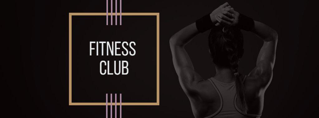 Fitness Club Ad with Woman's Fit Strong Body - Bir Tasarım Oluşturun