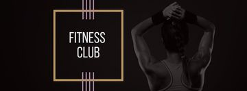 Fitness Club Ad with Woman's Fit Strong Body