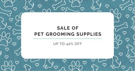 Plantilla de diseño de Pet Grooming Supplies Discount Offer Facebook AD