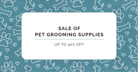 Pet Grooming Supplies Discount Offer Facebook AD Modelo de Design
