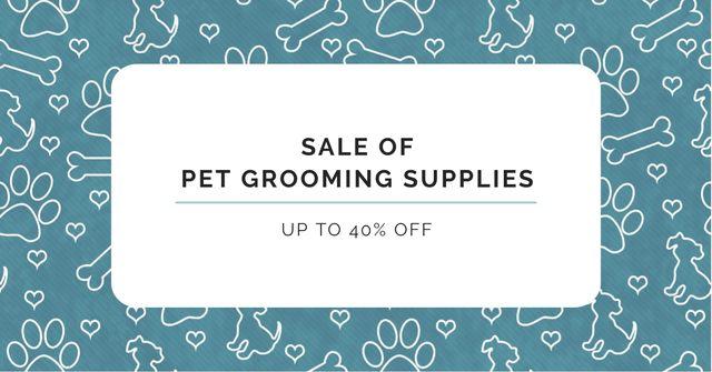 Pet Grooming Supplies Discount Offer Facebook AD Modelo de Design