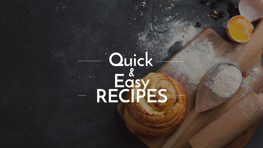 Plantilla de diseño de Quick and easy recipes with fresh bun Youtube