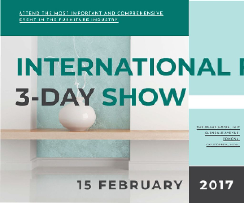International furniture show Medium Rectangle – шаблон для дизайну