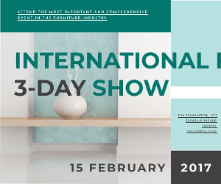 Plantilla de diseño de International furniture show Medium Rectangle