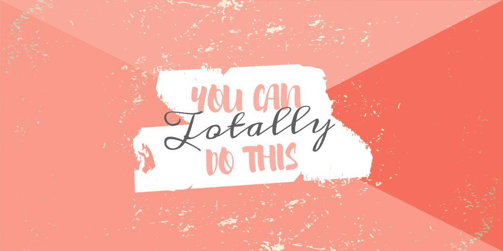 Motivational Phrase on pink — Crear un diseño