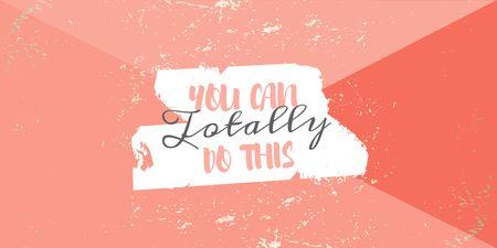 Motivational Phrase on pink Twitter Modelo de Design