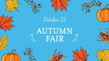 Plantilla de diseño de Autumn Fair on Thanksgiving Announcement FB event cover