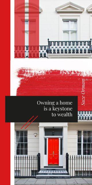 Plantilla de diseño de Modern House facade in red Graphic