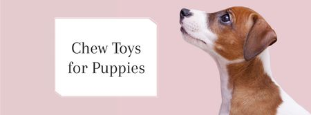 Designvorlage Pet Toys ad with Dog für Facebook cover