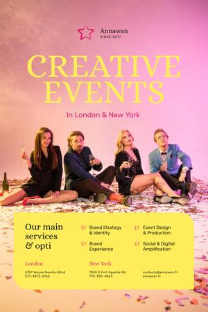 Template di design event agency Pinterest