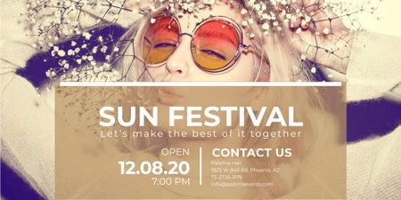 Template di design Sun festival advertisement banner Image