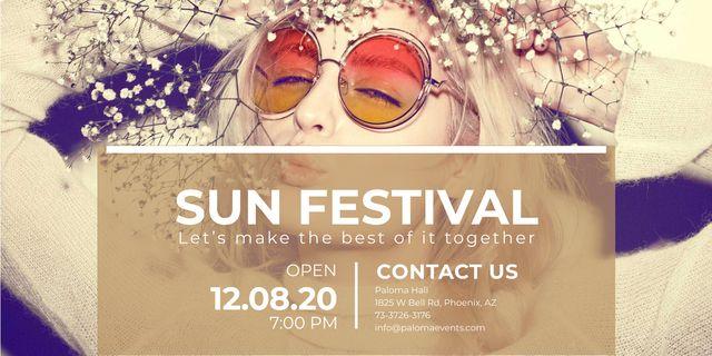 Sun festival advertisement banner Image – шаблон для дизайну