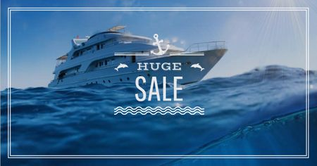 Sale Offer Ship in Sea Facebook AD – шаблон для дизайну