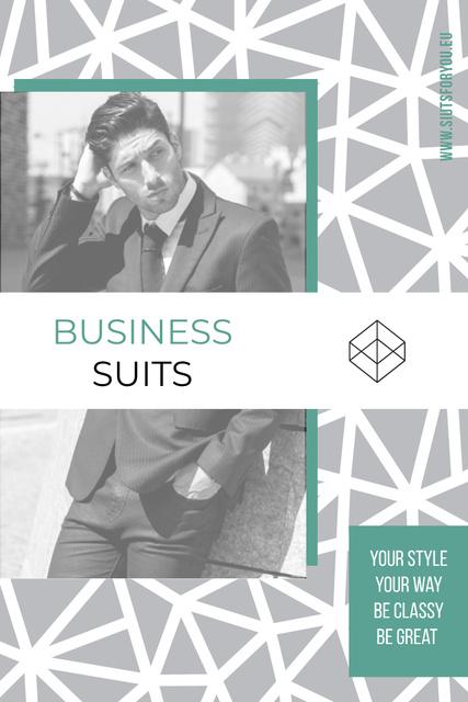 Plantilla de diseño de Business suits sale advertisement Pinterest