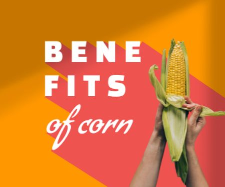 Fresh Corn in Hands Large Rectangle – шаблон для дизайну