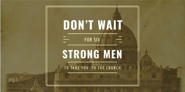 Modèle de visuel Religious Quote on Old Church View - Image