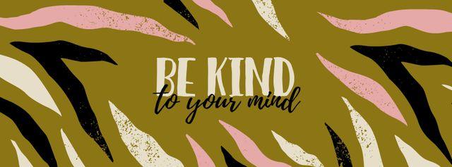 Mental Health Inspirational Phrase Facebook cover Modelo de Design