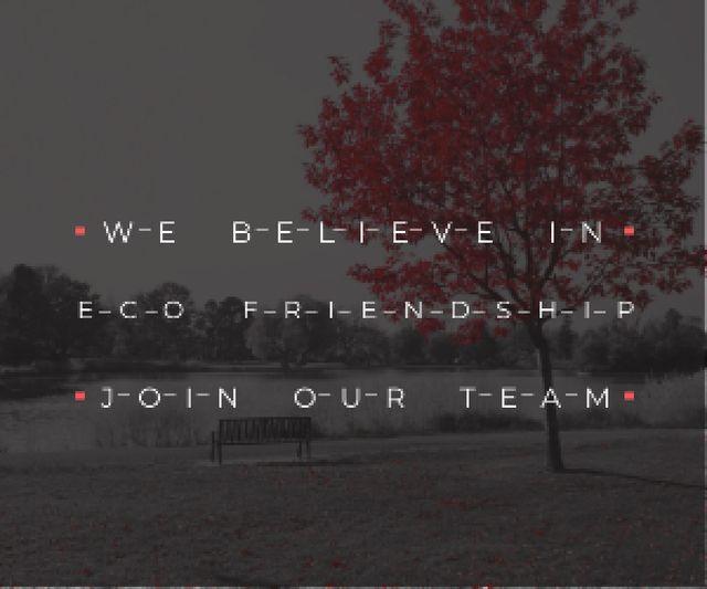 Designvorlage Eco-friendship concept für Medium Rectangle