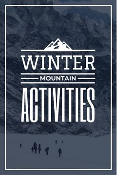 mountain hiking travel poster