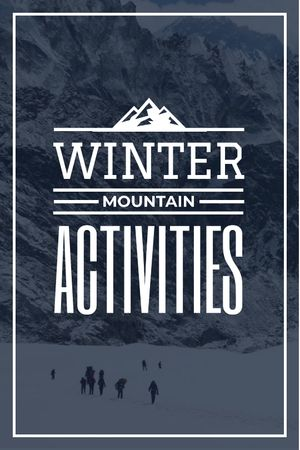 Plantilla de diseño de mountain hiking travel poster Tumblr