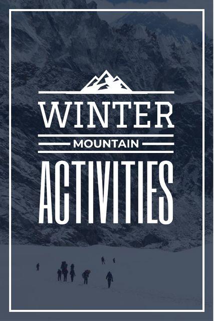 mountain hiking travel poster Tumblr – шаблон для дизайна