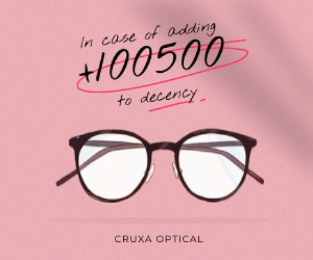 Plantilla de diseño de Glasses Store promotion in pink Medium Rectangle