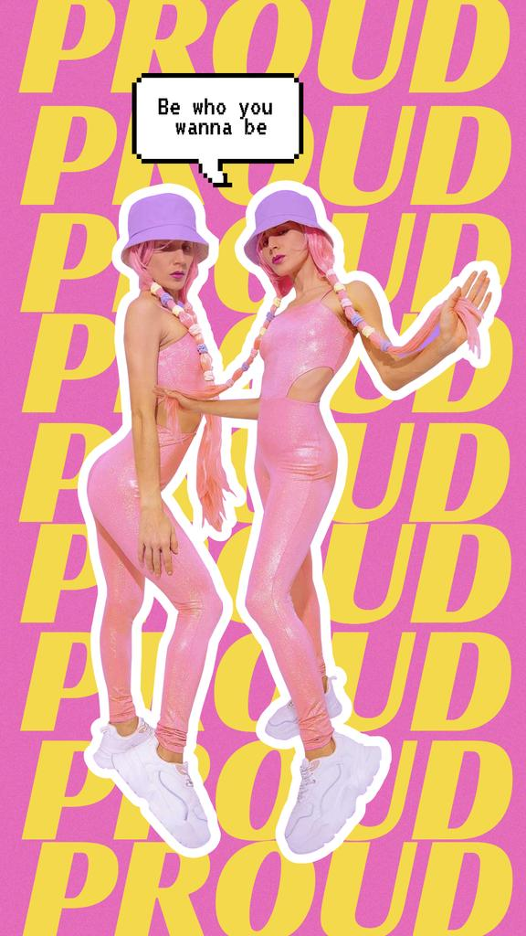 Modèle de visuel Pride Inspiration with Bright Transgender Woman - Instagram Story