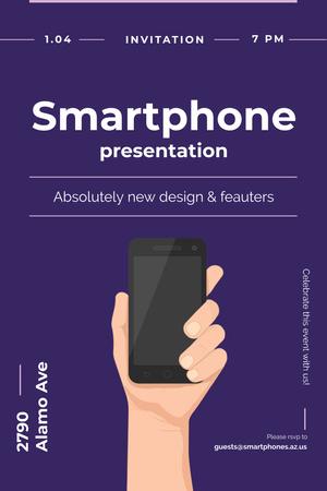 Plantilla de diseño de Invitation to new smartphone presentation Pinterest