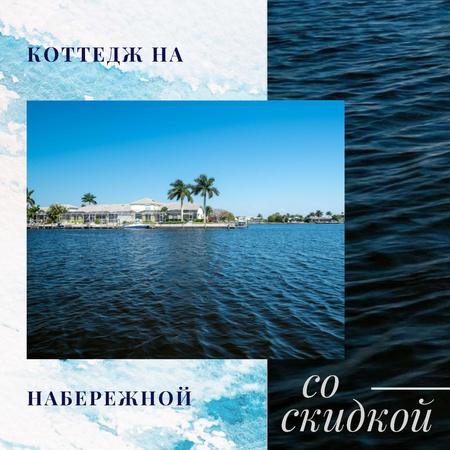 Real Estate Sale Houses at Sea Coastline Instagram AD – шаблон для дизайна