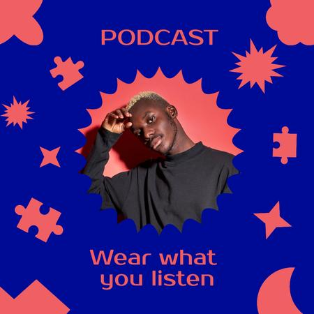 Podcast Topic Announcement with Stylish Young Man Instagram – шаблон для дизайну