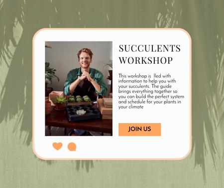 Succulents Workshop Announcement Facebook – шаблон для дизайна