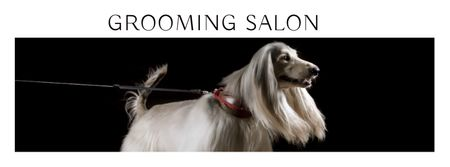 Plantilla de diseño de Grooming salon ad with pedigree Dog Facebook cover