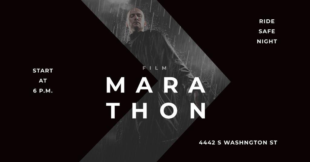 Marathon Movie with Actor under Rain — Create a Design