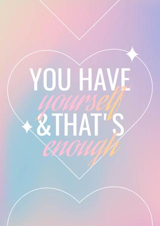 Inspirational Phrase with Heart Illustration Poster – шаблон для дизайну