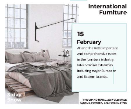 Plantilla de diseño de International furniture show Medium Rectangle