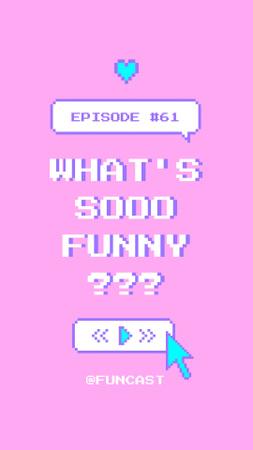 New Podcast Episode Announcement Instagram Video Story – шаблон для дизайна