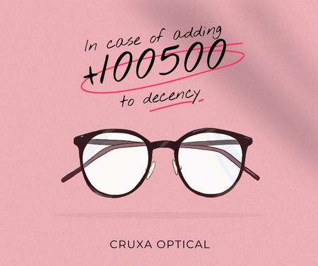 Glasses Store promotion in pink Facebook – шаблон для дизайна